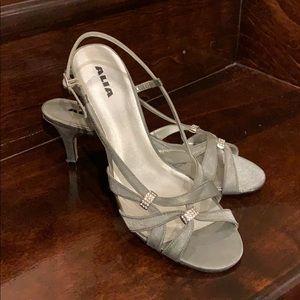 Silver-grey sandal dress shoe